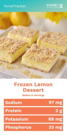 Suffice your cravings for a dollop of elegance without lengthy preparation or a hot oven, top off the meal with this airy ensemble of lemon, cream, and sugar. Lemon curd is folded into whipped cream a Low Sodium Desserts, Diet Desserts, Lemon Desserts, Dessert Recipes, Low Salt Desserts, Low Sodium Snacks, Low Potassium Recipes, Low Sodium Recipes, Lemon Cream