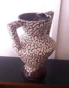 Vase à anse Vallauris 1960-70