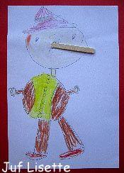 #knutselen met #kinderen: #DIY Pinokkio