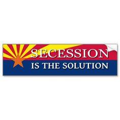 Shop Arizona Secession Bumper Sticker created by GaltNow. Honor Roll, Car Sit, Bumper Stickers, Arizona, Adhesive, Reflection, Politics, Entertaining, Make It Yourself