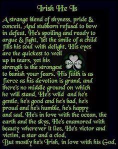Irish he is.