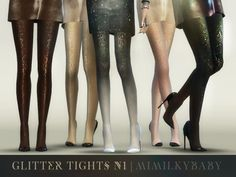 Mimilky baby: Glitter Tights N1 • Sims 4 Downloads