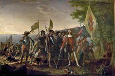 Conquistadores: mensen die in de naam van de Spaanse koning gebieden veroverden van Noord, Midden en Zuid Amerika.