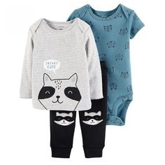 Cute Raccoon Printed Cotton Baby Clothing Set  Price: $ 34.16 & FREE Shipping   #babymonitors #babylove #cutebaby #babycute #cute #cuteclothes #facebook #art #artlove #artistic #paint #paintbrush