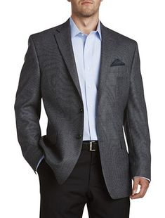 Big And Tall Suits, Big And Tall Stores, Mens Big And Tall, Grey Sport Coat, Mens Sport Coat, Sport Coats, Business Outfits, Business Attire, Armani Suits