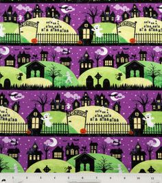 Holiday Inspirations Fabric- Ghost In The Graveyard Halloween Fabric, Halloween Skull, Halloween Images, Halloween Themes, Samhain, Halloween Baskets, Bullet Journal Mood, Trick Or Treat Bags, Tablerunners