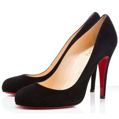 Christian Louboutin Ron Ron Pumps 100mm Suede Black