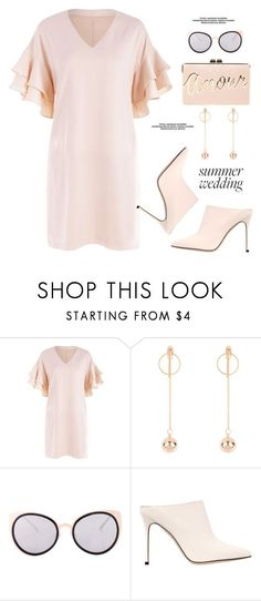 """Summer Weddings"" by paculi ❤ liked on Polyvore featuring Sergio Rossi, BCBGMAXAZRIA, summerwedding and zaful"