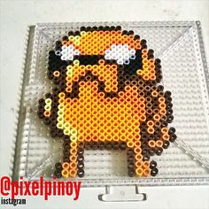 Jake - Adventure Time perler beads by pixelpinoy