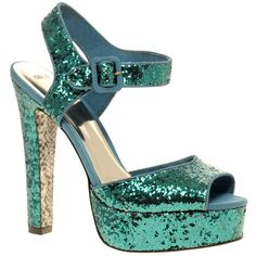 Asos Hysteric Glitter Platform High Sandals (432.145 IDR) ❤ liked on Polyvore featuring shoes, sandals, heels, scarpe, zapatos, asos sandals, high heel platform sandals, glitter platform shoes, high heel sandals and platform heel sandals