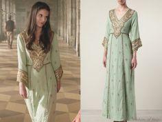 Calypso St. Barth Radra Embellished Cotton Caftan Dress