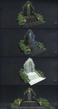 ArtStation - Videogame Door Asset, Alex Zaragoza