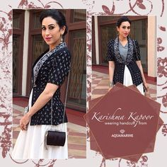 Karishma Kapoor wearing this beautiful handcuff by Aquamarine. Buy the same at all our stores. #aquamarine_jewellery #karishmakapoor #jewellery #handcuff #accessories #fashion #bollywoodfashion #celebstyle #aquamarinejewellery