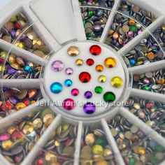 3D Round Acrylic Metal Nail Art Decoration Rhinestones Wheel Alloy Nail Studs Cell Phone Accessories 2mm and 3mm-in Rhinestones & Decoration...