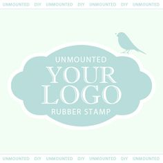 """Custom Rubber Stamp - Personalized Stamp - Custom Stamp - YOUR LOGO or DESIGN 2 x 2"""" - Unmounted on Etsy, $16.90 CAD"""