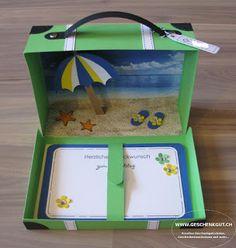 Reisekoffer Koffer Geschenkgutschein Geldgeschenk Reise Geburtstag Strandurlaub