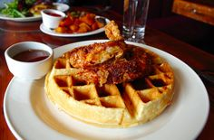 Britt ordered the chicken and waffles—a classic brunch dish. Like many restaurant patrons, Britt enjoys going out to eat to try meals that deviate from the norm—adding a special culinary twist to classic dishes is always what she hopes for. Unfortunately, the chicken and waffles was nothing to write home about, and could have easily been the chicken and waffles from any waffle house. Brunch at City Winery.