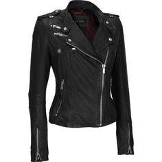 Wilsons Leather Women's Black Rivet Rock-n-Roll Leather Jacket. $210 clearanced on eBay.