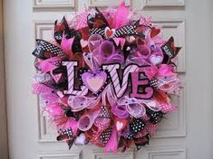 Image result for spring floral organza wreath