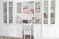 Bubble and Sweet: A pretty white light filled organised creative space