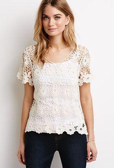 Daisy Open-Crochet Top | Love21 - 2000098610