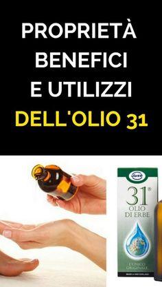 L' Olio 31 è uno dei prodotti più naturali che l'uomo sia mai riuscito a creare. Nasce dalla selezione di principi attivi provenienti da 31 erbe Tee Tree, Listerine, How To Stay Healthy, The Cure, Essential Oils, Hair Beauty, Personal Care, Tips, Girly