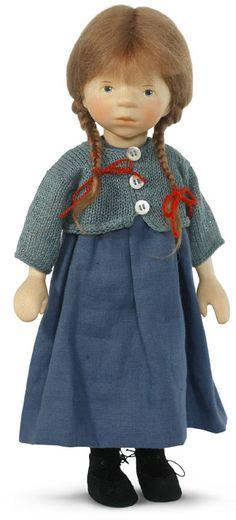 Dark Blond In Blue Dress H267 by Elisabeth Pongratz at The Toy Shoppe