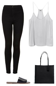 """""""chrome"""" by ksasya on Polyvore featuring Topshop, Madewell, Coach, white, black, grey and chrome"""