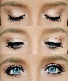 Basic luminous eye make up