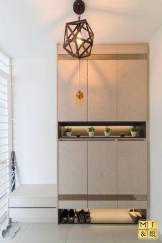 Shoe Trend shoe cabinet 32 Best Ideas For Full Height Storage Cabinet Singapore Z Mesh, An Shoe Cabinet Entryway, Shoe Cabinet Design, Home Entrance Decor, Entryway Decor, Foyer, Partition Design, Living Room Cabinets, Hallway Furniture, Rack Design