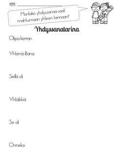 Learn Finnish, Finnish Language, Bingo, Homeschool, Math Equations, Teaching, Education, Writing, Quotes