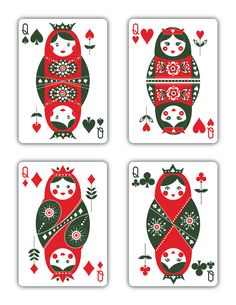 """Natalia Silva is raising funds for Russian Folk Art Playing Cards - Printed by USPCC on Kickstarter! """"Russian Folk Art"""" is a beautiful deck of playing cards inspired by Russian Folklore. Custom Playing Cards, Vintage Playing Cards, Russian Folk Art, Paintings I Love, Jouer, Deck Of Cards, Card Games, Doodles, Art Prints"""
