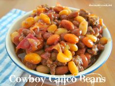 The Country Cook: Cowboy Calico Baked Beans