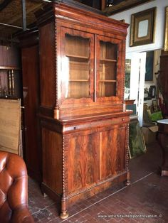 Mobili antichi - Bureau e trumeau Antica ribalta inglese - Antico ...