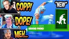 streamers react to new ground pound emote dance hulk smash fortnite funny savage moments - danse fortnite mort vivant