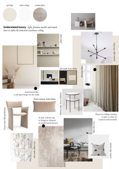 Beige bedroom mood board - understated luxury - minimalist interiors - minimalist bedroom