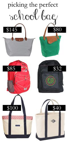 Save or Splurge: Picking the Perfect School Bag or Tote!  From College Prep