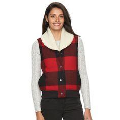 Women's Woolrich Buffalo Check Wool Blend Vest