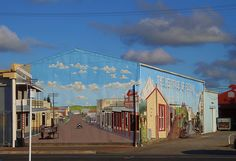 Wall art on building in Eltham, New Zealand