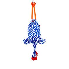 Chicken bag blu a pois grandi