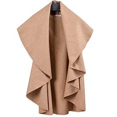 Bestdress Women Solid Color Outwear Cape Spring Wrap-up Vest Jacket ** Read more reviews of the item by visiting the link on the image.