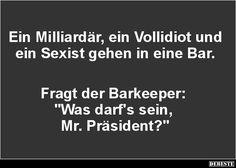 Ein Milliardär, ein Vollidiot und ein..