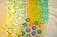 LuAnn Kessi: Gelli Printing.........lots of great ideas to use found objects with the Gelli