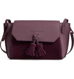 Main Image - Longchamp Small Penelope Leather Crossbody Bag