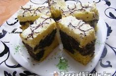 Foltos kókuszkocka | Receptkirály.hu Cheesecake, Muffin, Healthy Recipes, Healthy Food, Breakfast, Cakes, Baking, Christmas, Dios