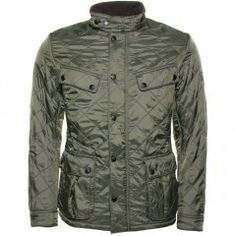 Barbour International Mens Olive Ariel Polarquilt Jacket