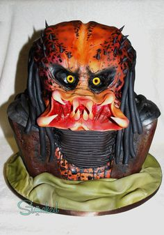 Predator Cake. Get your teeth into it, before it gets it's teeth into you.