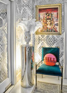 A corner of Jonathan Adler's dining room in New York.