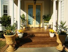 Want to stain the porch and driveway like this -  semi transparent concrete stain by Behr in the color Loden