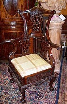 Chinese Carved Chair | PAIR CHINESE CARVED WALNUT CORNER CHAIRS (Furniture and Accessories ...